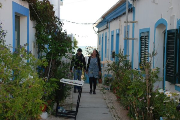 Walking in Charming blue houses in the West Algarve