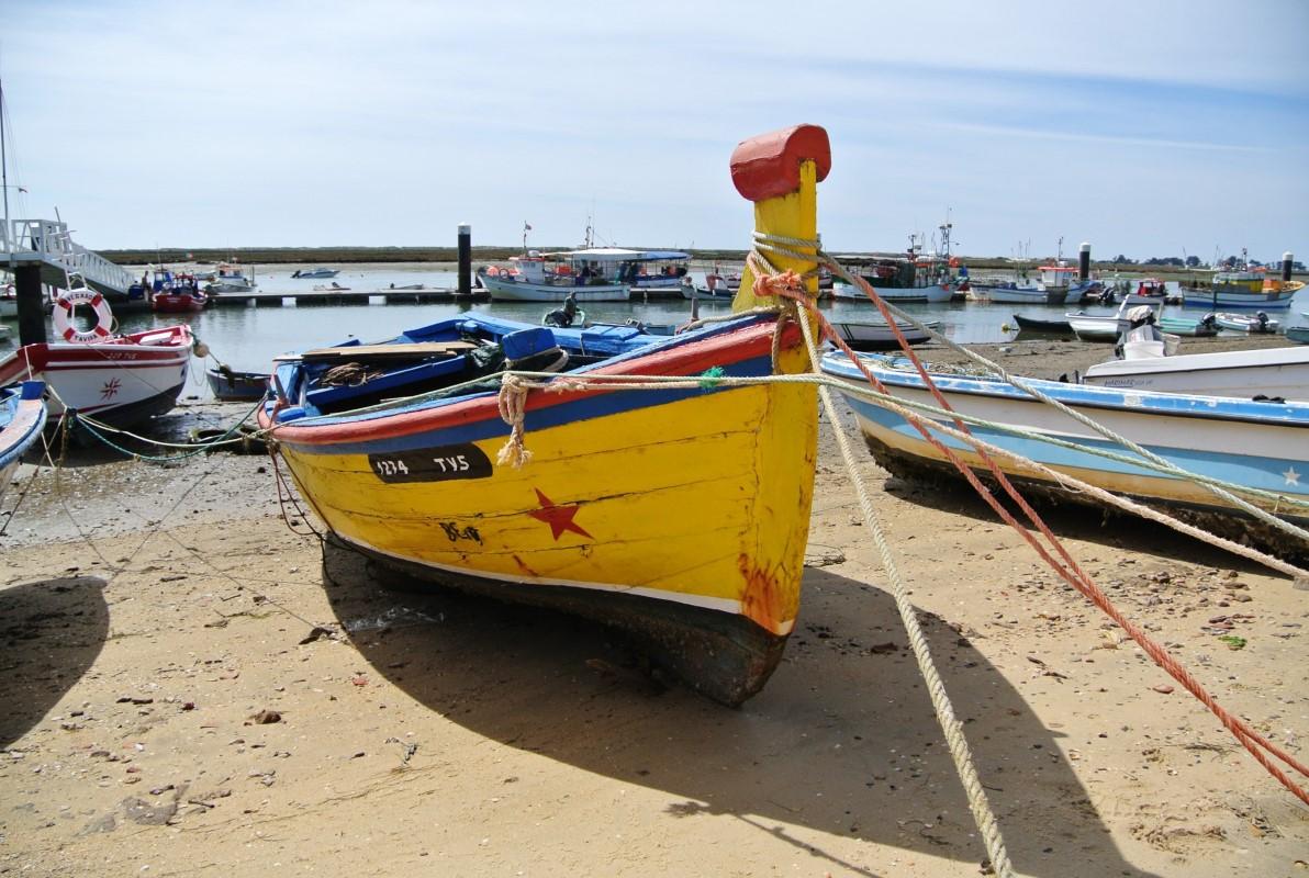 Colourful fishing boat in Santa Luzia
