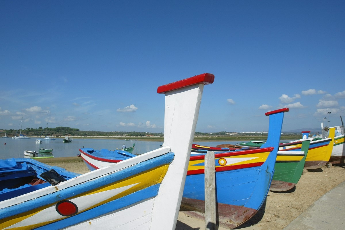 Algarve Colourful fishing boats