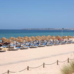 Praia da Rocha's vast strip of sand