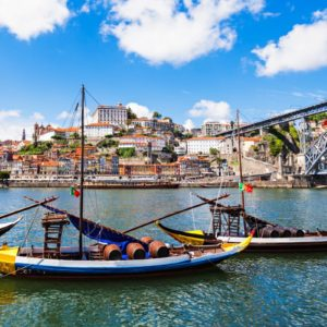 Rabelo boats in Douro River