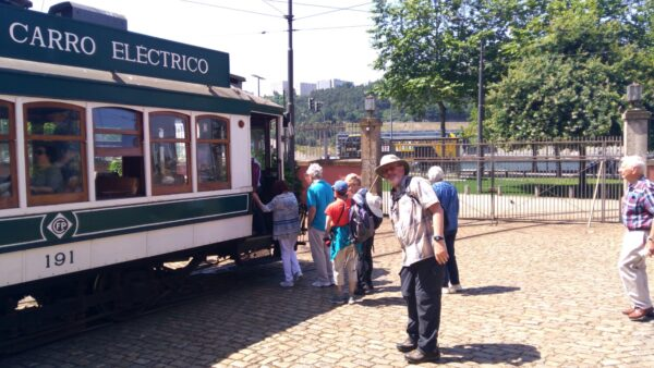 Group in Train Tour Portugal